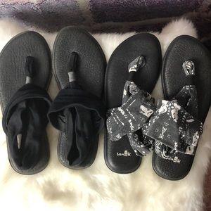 Sanuk Yogo Slings Lot Sandals Flip flops Size 8